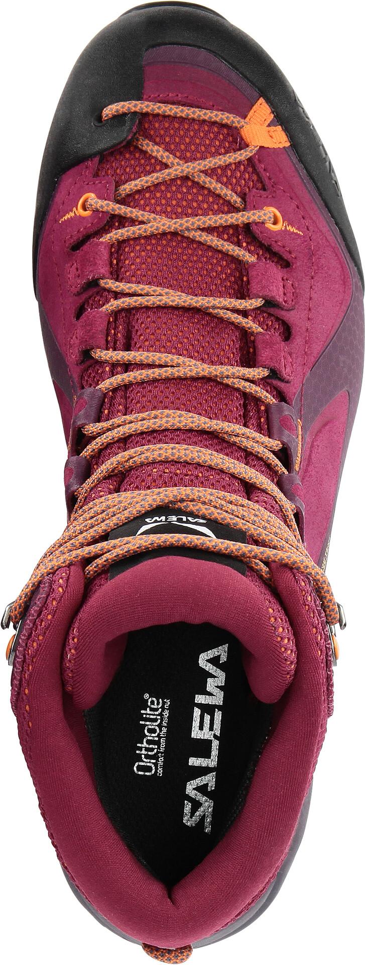 SALEWA Alpenviolet GTX Mid Shoes Women red plumorange popsicle